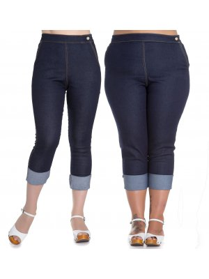 Hell Bunny Ronnie Capri Trousers