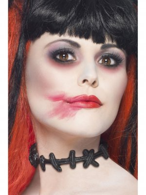 Smiffy's Stitched Up Choker With Stitched Neck Effect