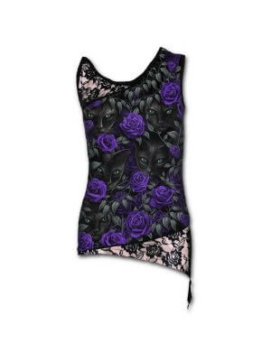 Spiral The Watchers Adjustable Shoulder Lace Top