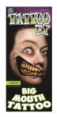 Tinsley Transfers 2 Faced Big Mouth Tattoo FX