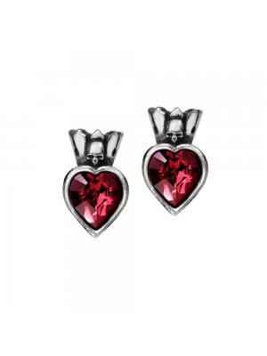 Alchemy Pewter Claddagh Heart Ear Studs
