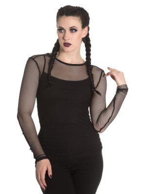 Hell Bunny Laura Mesh Top