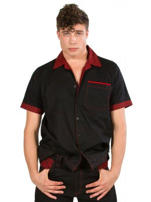 Dead Threads Red & Black Checked Collar Shirt