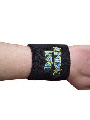 Iron Maiden Blue Logo Wrist Sweatband
