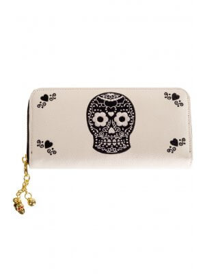 Banned On The Line Skull Purse