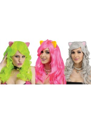Fantasy Wig With Cat Ears