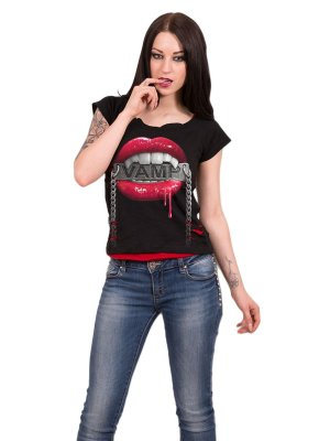 Spiral Fangs 2 in 1 Red Ripped Top