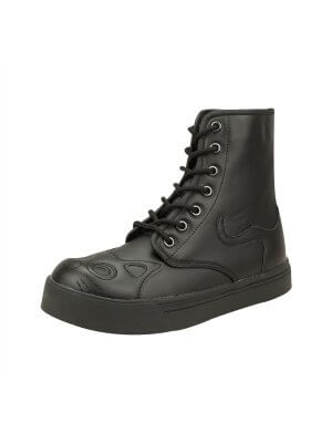 TUK Full Black Kitty Sneaker Boot