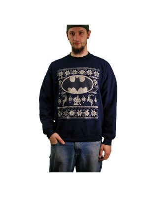 Batman Fair Isle Logo Sweatshirt