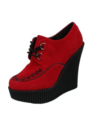 Demonia Red Wedge Heel Creepers