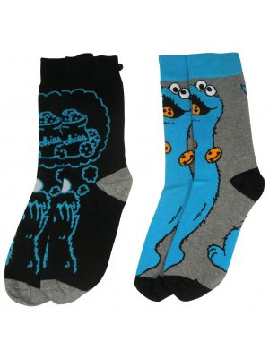 Mens 2 Pack Cookie Monster Socks
