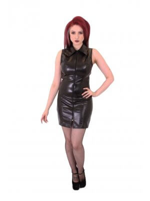 Phaze Short Laser Zip Front Dress